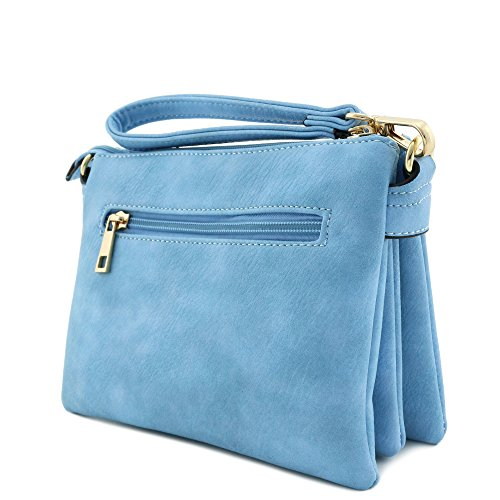 Accent Crossbody Light Small Multi Blue Bag Compartment Front Pocket TW6qOO