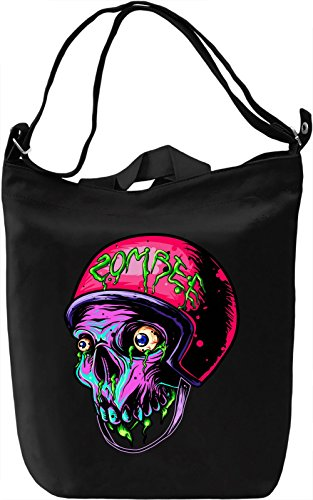Zombie skater Borsa Giornaliera Canvas Canvas Day Bag| 100% Premium Cotton Canvas| DTG Printing|
