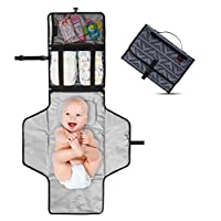 Crystal Baby Smile Portable Changing Pad - Diaper Clutch - Lightweight Travel...