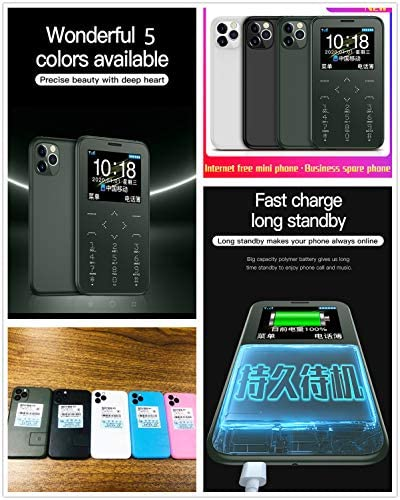 "Soyes 7S+ Unlocked 2G Card Phone Quad Band GSM Unlocked Mini Card Phone Mini Mobile Phones 1.5"" IPS Color Big Display Torch Camera MP3 HiFi Sound Long Standby Bluebooth GSM Kids Cell Phones (Black)"