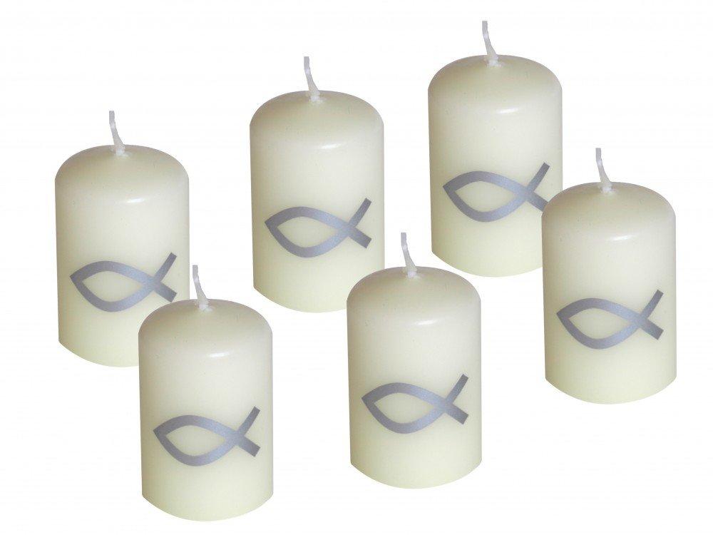 Tischdeko konfirmation 2012  10 Fische Buchs Band Weiß Kommunion Konfirmation Streudeko Taufe ...