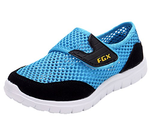 Legend E.C Leisure Breathable Boys' and Girls' Mesh Sport Sneakers Ultra Light Sport Shoes (13, Blue)