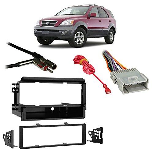 (Fits Kia Sorento EX 2003-2006 Single DIN Harness Radio Install Dash Kit)