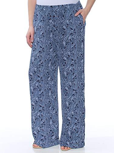 MICHAEL Michael Kors Womens Paisley Daytime Wide Leg Pants Blue L