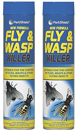 2 x Pestshield Fly & Wasp Flying Insect Killer Spray 300ML 151