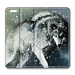 Brian114 5C Case, iPhone 5C Case - Best Protective Scratch-Proof Leather Cases for iPhone 5C Hunting Wolf In Snow Field Customized Design Folio Flip Leather Case Cover for iPhone 5C Inch