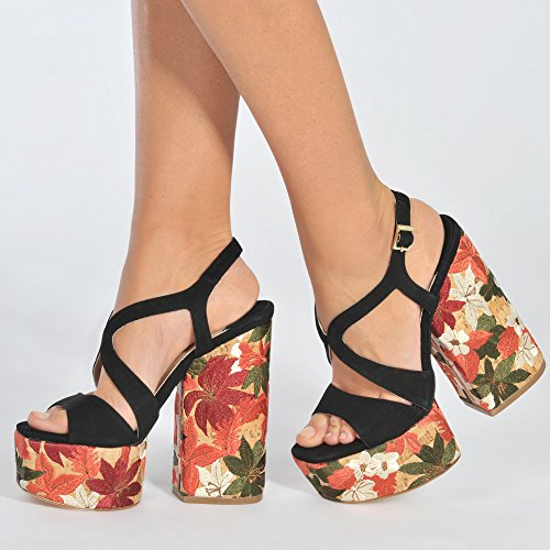 Paloma Barcelo Theze Flower Platform Sandal 7T5aV