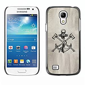 Estuche Cubierta Shell Smartphone estuche protector duro para el teléfono móvil Caso Samsung Galaxy S4 Mini i9190 MINI VERSION! / CECELL Phone case / / axe anchor paper sketch pencil i