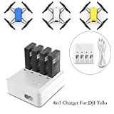 #6: Tello charger, YX-Tello 4 in 1 Charger for DJI Tello battery Rapid Charging Hub Charging Accessories