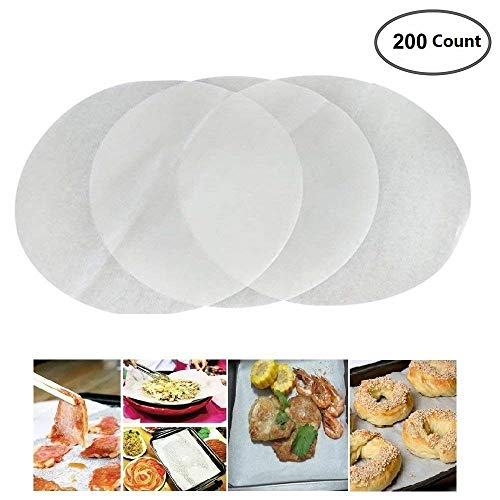 Mity Rain (Set of 200) Non-Stick Round Parchment Paper 11 Inch Diameter,Baking Paper Liners Round for Cake Pans Circle by Mity rain