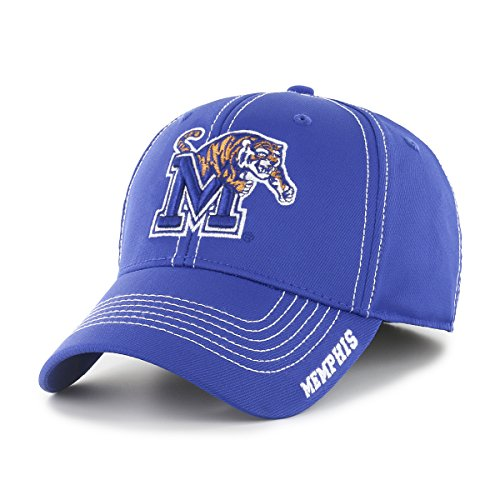 NCAA Memphis Tigers Adult Start Line Ots Center Stretch Fit Hat, Medium/Large, Royal ()