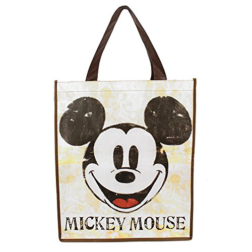 Vintage Style aged art look Mickey Mouse Face Non-Woven carry all Tote Bag
