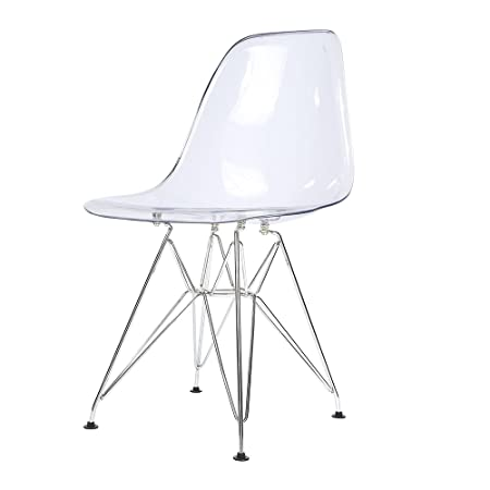 Furniture Uk Shop Clear Ghost Chair Eiffel Style Transparent Steel Chairs  Dinning Home Office