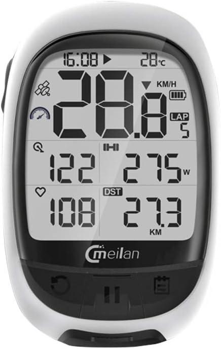 M2 GPS Bicicleta Ordenador Cadencia Frecuencia card/íaca Medidor de Potencia Ciclismo Navegaci/ón Ordenador Walmeck