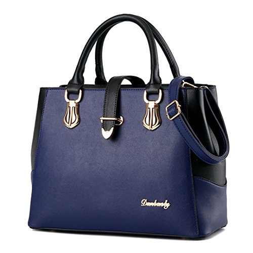 Tibes PU 1 Strap C Handbag Leather Ladies Blue with Shoulder aarq6Ugw