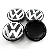 Bleiou 4peces Volkswagen VW Wheel Center Hub 65mm Cap Cover Badge Emblem 3B7 601 171 VW GOLF JETTA MK5 PASSAT B6 CC GTI 3B7601171