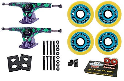 (Good Skateboard Paris 180Mm V2 Amanda Trucks + Sector 9 Dual Durometer 70Mm 78A/90A Wheels)