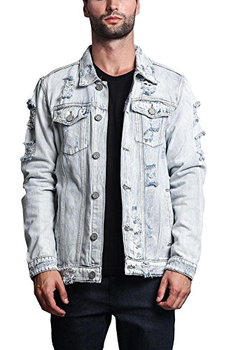 Victorious G-Style USA Distressed Denim Jacket DK100 - Light