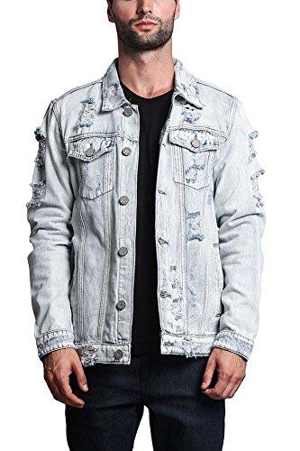 Distressed Denim Jacket - 7