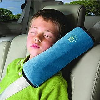 (BLUE)Pillow Car Safety Belt Protect Shoulder Pad adjust Vehicle Seat Belt Cushion for Kids Children high quality