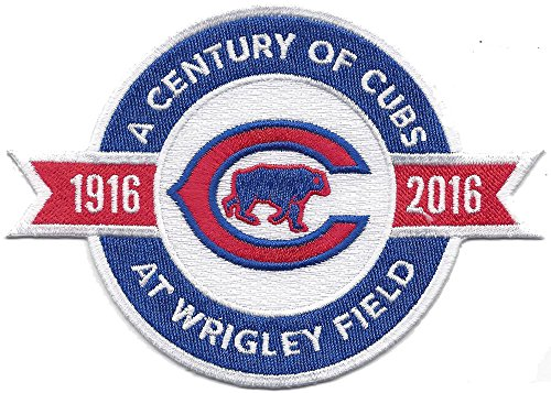 2016 Chicago Cubs ''A Century of Cubs At Wrigley Field'' 100th Anniversary Jersey Sleeve Patch