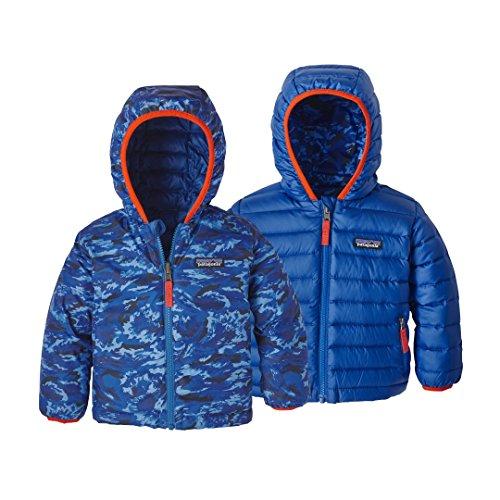Baby Down Sweater (Patagonia Reversible Down Sweater Hoody Baby EL Nino Camo Small: Viking Blue Unisex Baby 3-6m)