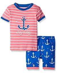 Little Blue House By Hatley Girls' Short P.J. Set -Nautical Anchors