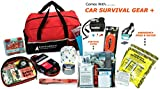 AutoClubHero Premium Car Emergency Survival Kit 185-Pieces for Car Survival & Roadside Assistance