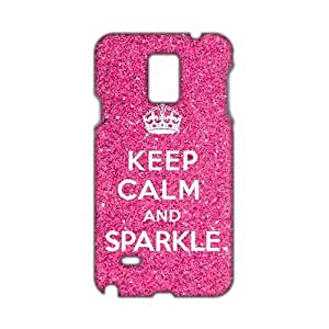 Pink simple motto calm down 3D Phone For Iphone 6 4.7 Inch Case Cover