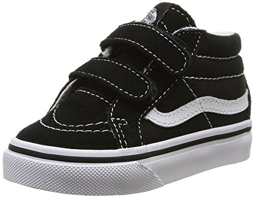 Vans Boys' SK8 Mid Reissue V (Toddler), Black/True White -