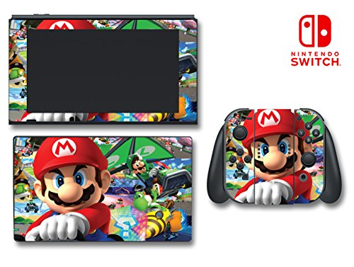 Mario Kart 7 Luigi Peach Yoshi Bowser Video Game Vinyl Decal Skin Sticker Cover for Nintendo Switch Console System
