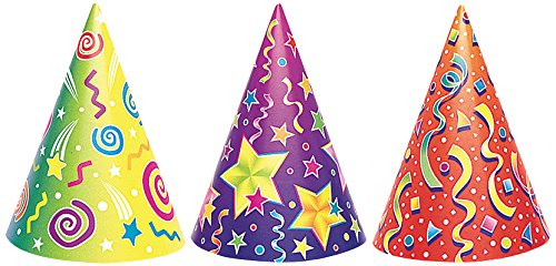 Unique 6 Party Hats Cone With String Multi Colours Great For Parties Amazoncouk Kitchen Home