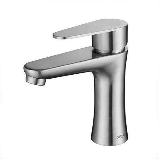 Llxxx Grifo-Lavabo de Acero Inoxidable 304 Grifo de Agua ...