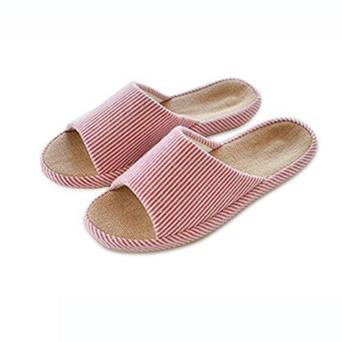 Cómodo Simple Spring and Autumn hogar zapatos de piso Zapatillas más fresco del piso Zapatillas de playa transpirable interior de los pares del verano (3 colores opcionales) (tamaño opcional) Aumentad B