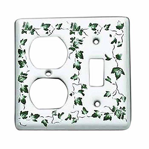 Switch Plate White Porcelain Ivy Toggle/Outlet Switch | Renovator's Supply