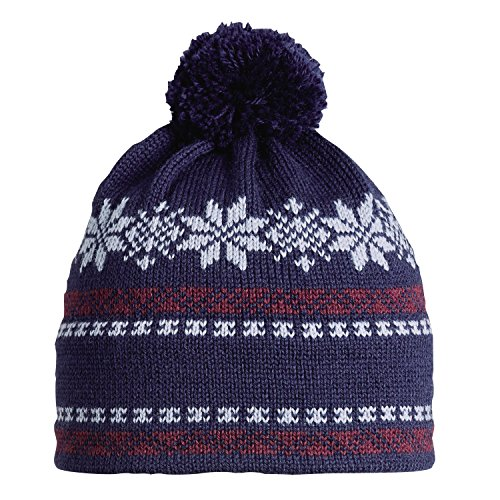 Navy Country Lambswool - Vermont Originals 100% Wool USA Made Oslo Pom Winter Beanie Hat Navy