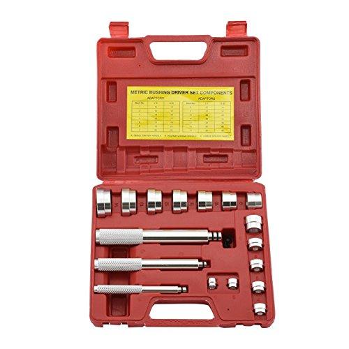 Metric Bushing Bearing Driver | 17pc Set Aluminum Install Remove 10-42mm