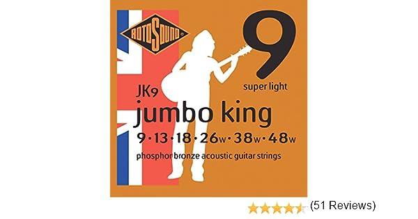 Rotosound JK9 - Juego de cuerdas para guitarra acústica de fósforo ...
