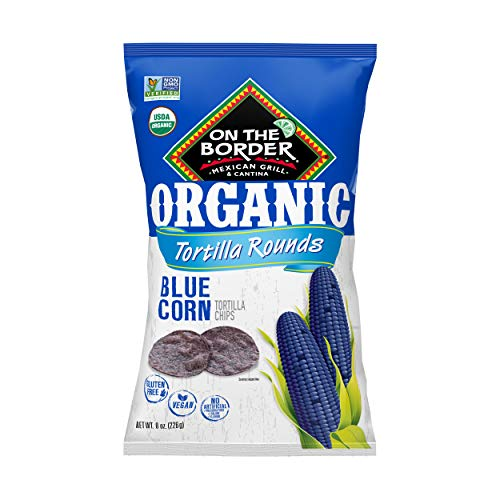 - On The Border Organic Blue Corn Tortilla Rounds - 8 oz, 6-count