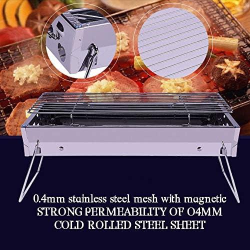 REDSHORE Barbecue au Charbon BBQ Portable, Barbecue léger pliants Grill Outils pour Cuisine de Plein air Roadtrip Camping Randonnée Pique-niques