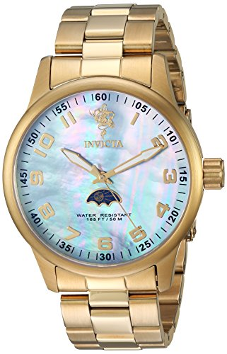 Invicta Men's 'Sea Base' Quartz Stainless Steel Casual Watch, Color:Gold-Toned (Model: 23827) - Invicta Sapphire Wrist Watch