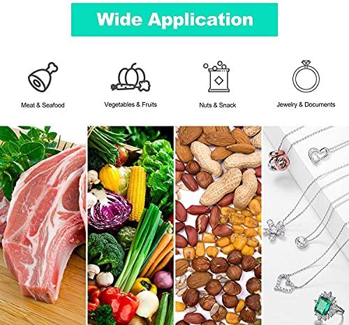 Macchina Sottovuoto per Alimenti, 2 in 1 Professionale Sottovuoto Macchina, Automatica Portatile Macchina Sottovuoto, Macchina per Sottovuoto Foodsaver con 10 Sacchetti (Nero)