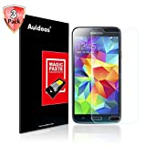 Galaxy S5 & S5 Neo Screen Protector,Auideas Samsung Galaxy S5 & S5 Neo Tempered Glass Screen Protector for Samsung Galaxy S5 & S5 Neo [3-Pack] [Lifetime Warranty]