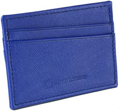 Alpine Swiss Alpine Swiss Front Pocket Wallet Minimalist Super Thin 5 Card Wallet Genuine Leather