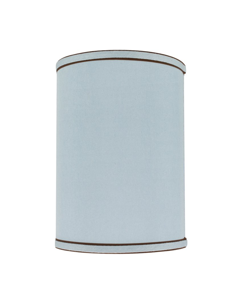 Aspen Creative 31019 Drum Shaped (Spider) Shade In Light bluee