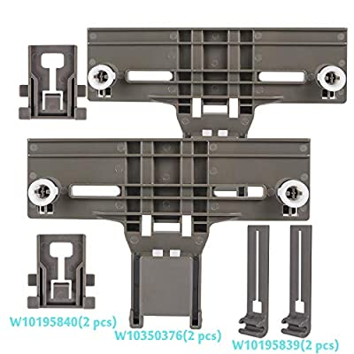 Cykemo W10350376 & W10195840 & W10195839 Dishwasher Rack Adjuster Kit Replacement for Kenmore Dishwashers?Pack of 2?