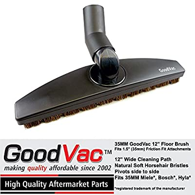 """Miele Non-OEM 35MM Swivel Floor Tool Brush w/ Soft Natural Bristles 12"""" Wide by GoodVac"""