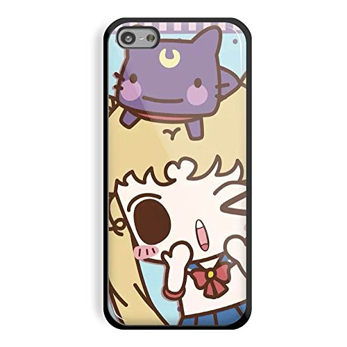Best Movie Costumes Of All Time (Sailor Moon Purse Tsukino Usagi Luna Artemis Cat Cartoon for Iphone and Samsung Galaxy Case (iPhone 5/5s white))