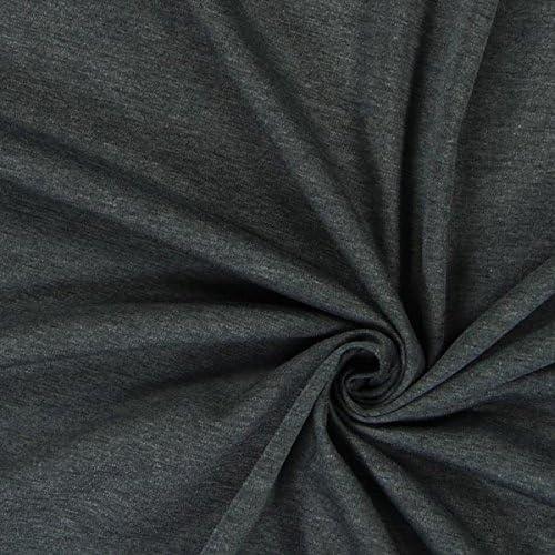 Weicher Shirt u Kleider-Jersey weicher blickdichter Sotff Meterware in Grau Weiß