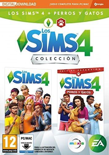 Los Sims 4 Plus - Perros y gatos bundle juego + expansión (La caja contiene un código de descarga - Origin): Amazon.es: Videojuegos